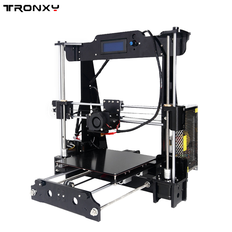 2017 tronxy Full models 3D Printer Kits Extrusion DIY kit 3d printing Filament 8GB SD card 2017 classic tevo tarantula i3 aluminium extrusion 3d printer kit 3d printing 2 roll filament sd card titan extruder as gift