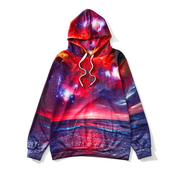 Hiawatha New Arrival 3D Digital Printed Hooded Sweatshirt Women Harajuku Galaxy Hoodies Autumn Long Sleeve Pullover WY1397 2