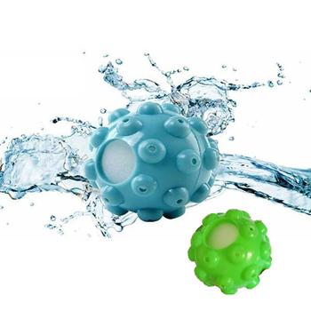 Suszarka wielokrotnego użytku piłki pranie kulka do zmiękczania tkanin w praniu do domu czyszczenie odzieży narzędzia przyspieszyć suszenie ubrań tanie i dobre opinie Dryer Balls Maty do pieczenia PVC shell inner defensive nano melamine sponge (super absorbent) Blue Green 185 nm sponge - 58 g ball