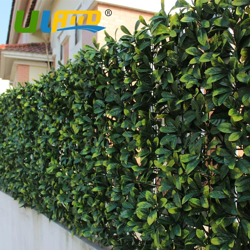 1x1m Sythenic Plastic Grass Fence Mat Fake Ivy Plant
