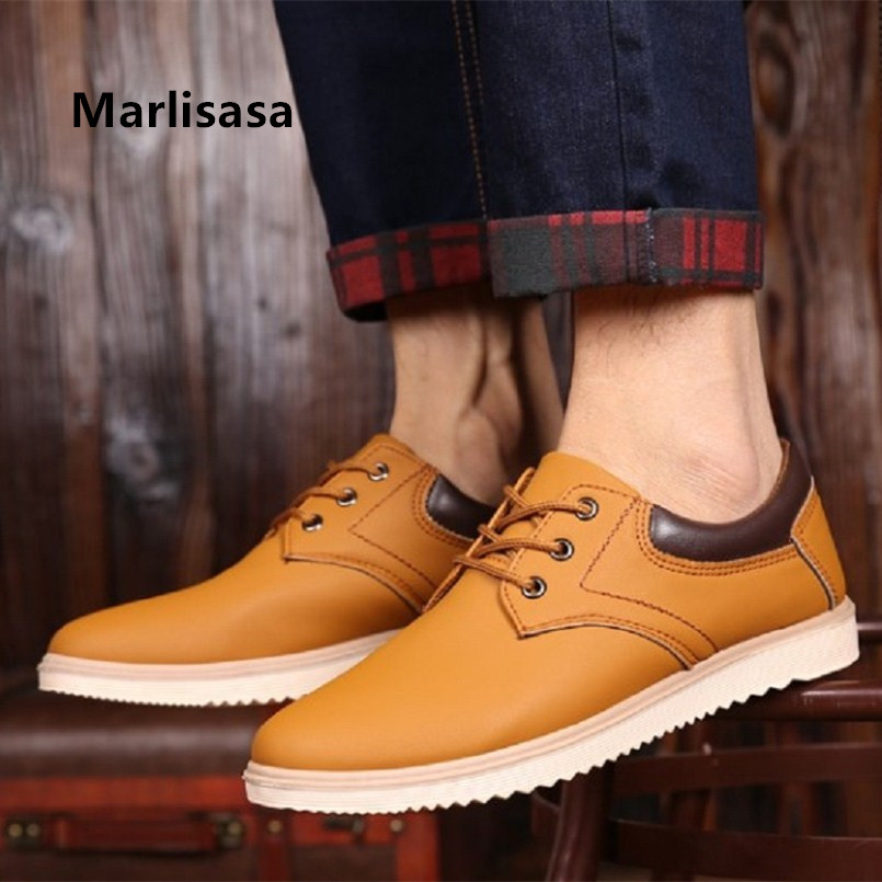 Marlisasa Men Fashion Brown High Quality Anti Skid Pu Leather Shoes Man Casual Street Shoes Brown Shoes Zapatos Hombre F2729Marlisasa Men Fashion Brown High Quality Anti Skid Pu Leather Shoes Man Casual Street Shoes Brown Shoes Zapatos Hombre F2729