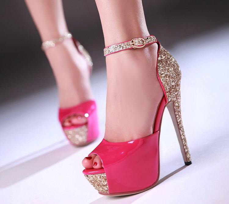 Beautiful Stiletto Pumps Peep Toe Wedding Shoes Woman's Bridal ...