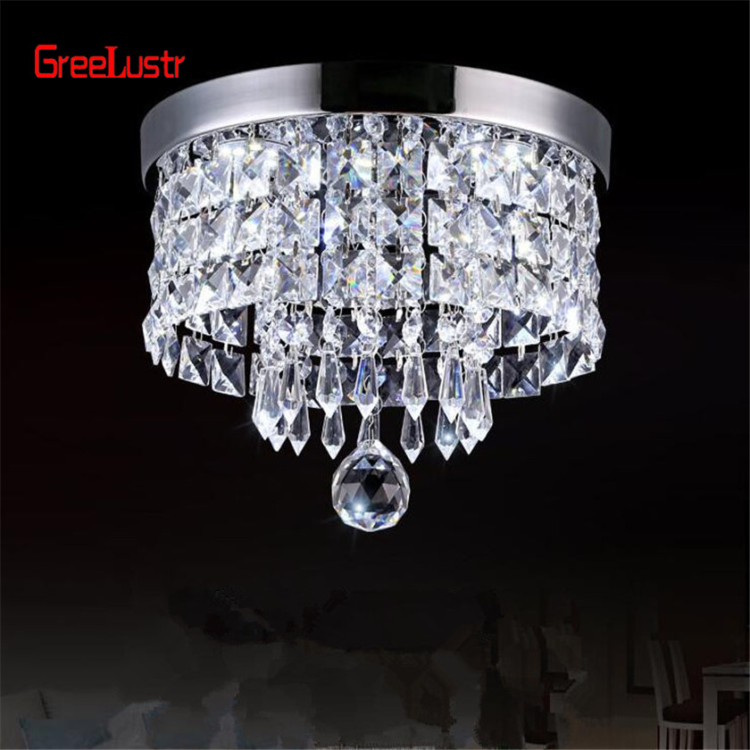 Image 3 - AC110V 240V Led Crystal Chandelier Ceiling Lamp Plafon Lustre For Entrance Kitchen lights Chandeliers Fixtures Home Decor-in Chandeliers from Lights & Lighting
