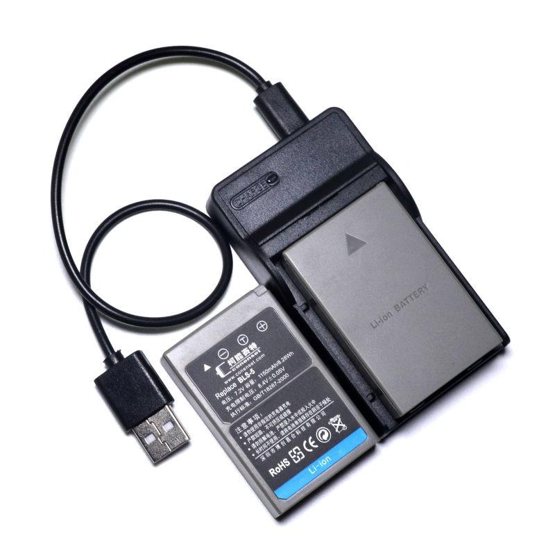 2PCS BLS-5 BLS-50 BLS50 Battery + USB Charger for Olympus OM-D E-M10 Mark II III E-PL5 E-PL6 E-PL8 E-PM1 E-PM2 Stylus 1s Camera rutherfurd e russka
