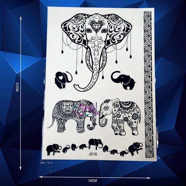 Venta caliente cabeza de elefante Ganesha tatuaje temporal Cuerpo ...