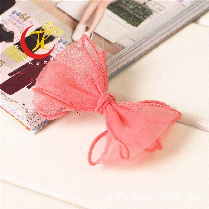 Тюль шифон заколка-бабочка для детей банты для волос Детские клипсы украшения для девочек заколки для волос аксессуары головной убор