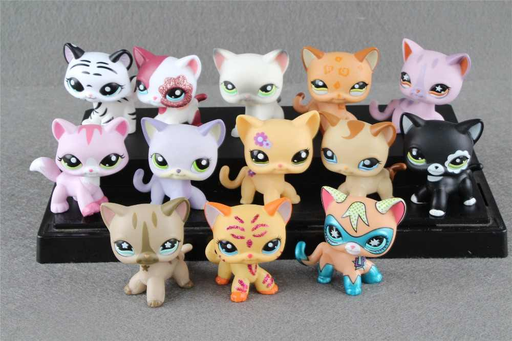 1 шт. маленькая коллекция домашних животных, рисунок, короткие волосы, кошка, котенок, животные, детские свободные милые игрушки