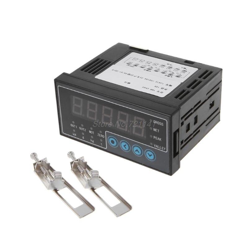 AC 50/60Hz 100-240V Indicateur de Cellule de Charge Affichage Transducteur De Pesage Dosage D'émetteur S Capteur De Poids 2 Voies Sortie 96x48
