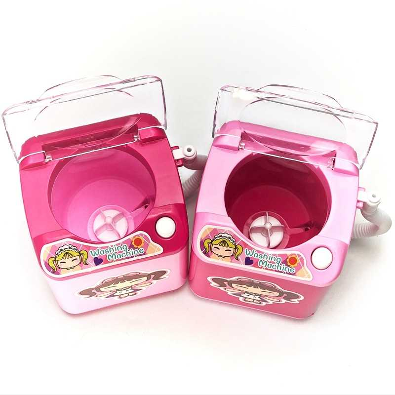 Girl Cute Toy Mini Washing Machine Pretend Role Playing Education Baby Children Dolls Interior Decoration Children's Toys  Gifts
