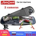 Full HD 1080P Auto Dvr Kamera Auto 4 3 Inch Rückspiegel Digital Video Recorder Dual Objektiv Registratory Camcorder DVR/Dash Kamera Kraftfahrzeuge und Motorräder -