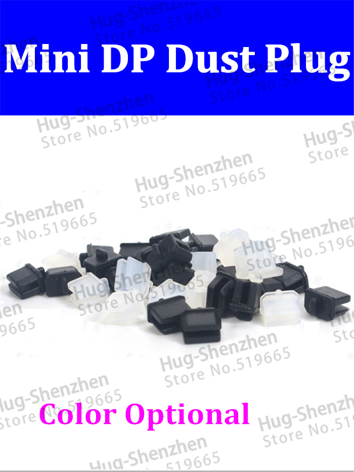 High Quality 200pcs/lot Mini Displlay Port /mini DP Dust Plug For Computer Or Video Card -Black/Transparent White