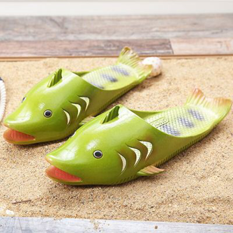 Creative Fish-shaped Male Slippers Word Drag Summer Outdoor Drag Men And Women Beach Shoes Fish Slippers couples 2019 newCreative Fish-shaped Male Slippers Word Drag Summer Outdoor Drag Men And Women Beach Shoes Fish Slippers couples 2019 new