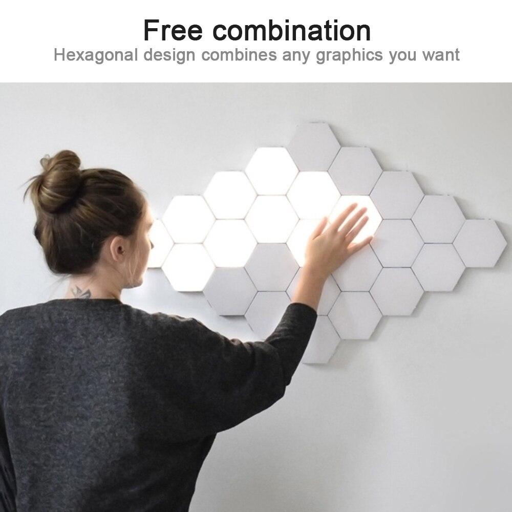 New Quantum Lamp Upgrade Hex Lamp Modular Touch Sensor Light Night Light Magnetic Creative Decorative Wall Lamp Smart Home