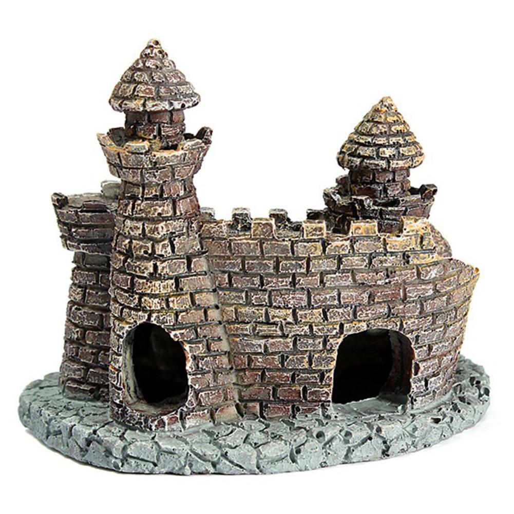 aliexpress : buy new design resin cartoon castle aquariums