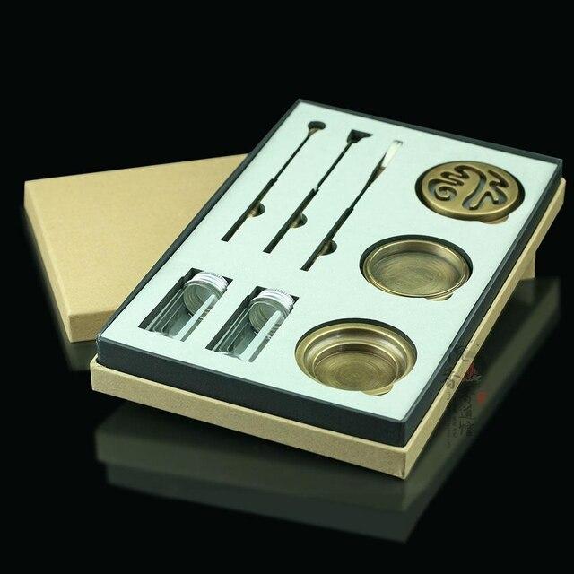 PINNY высококачественный набор медный для благовоний горелка тонкая курильница ящик для инструментов подарки и Ремесла домашние украшения держатель для благовоний ароматическая печь