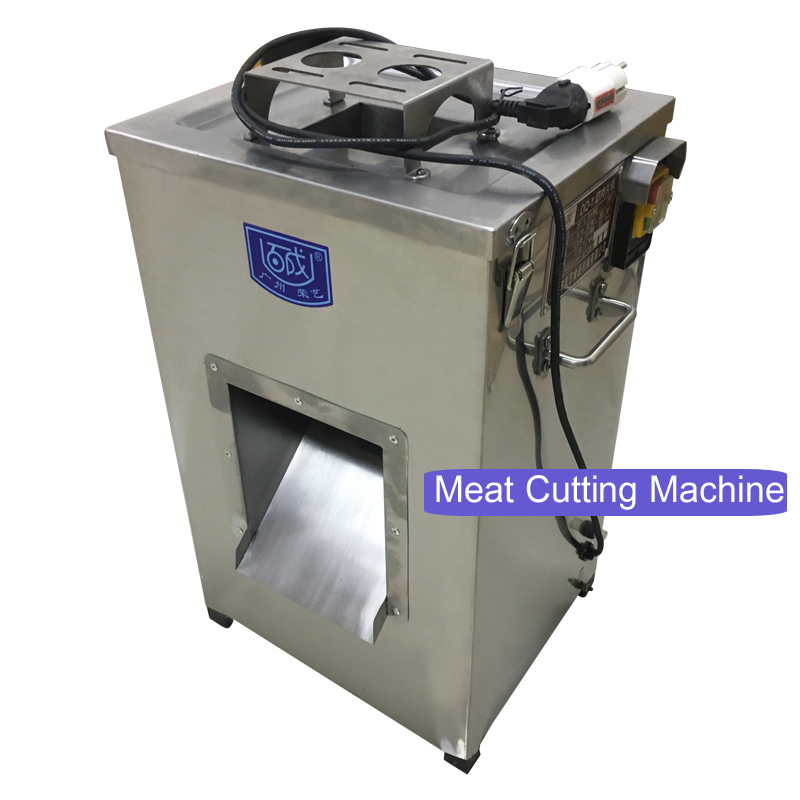 Electric Meat Cutting Machine Professional Vertical Meat Cutting Machine Stainless Steel Industrial Frozen Meat Slicer 220V 750W