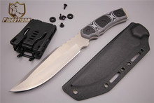 fixed blade straight knife high-end custom small straight knife outdoor camping vg10 steel gift box leather sharp K saya
