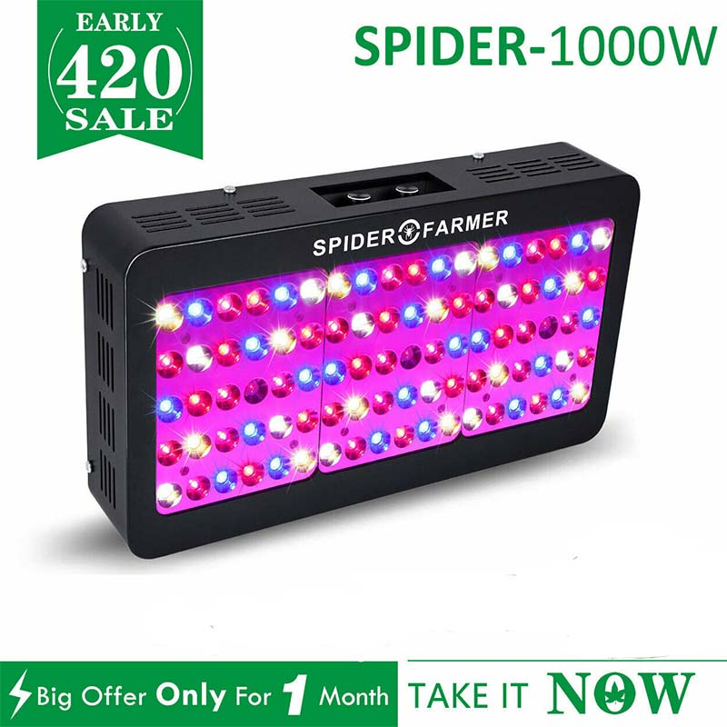 Dimmable 1000W LED Grow Light Full Spectrum Hydroponics For Indoor Plants Lights