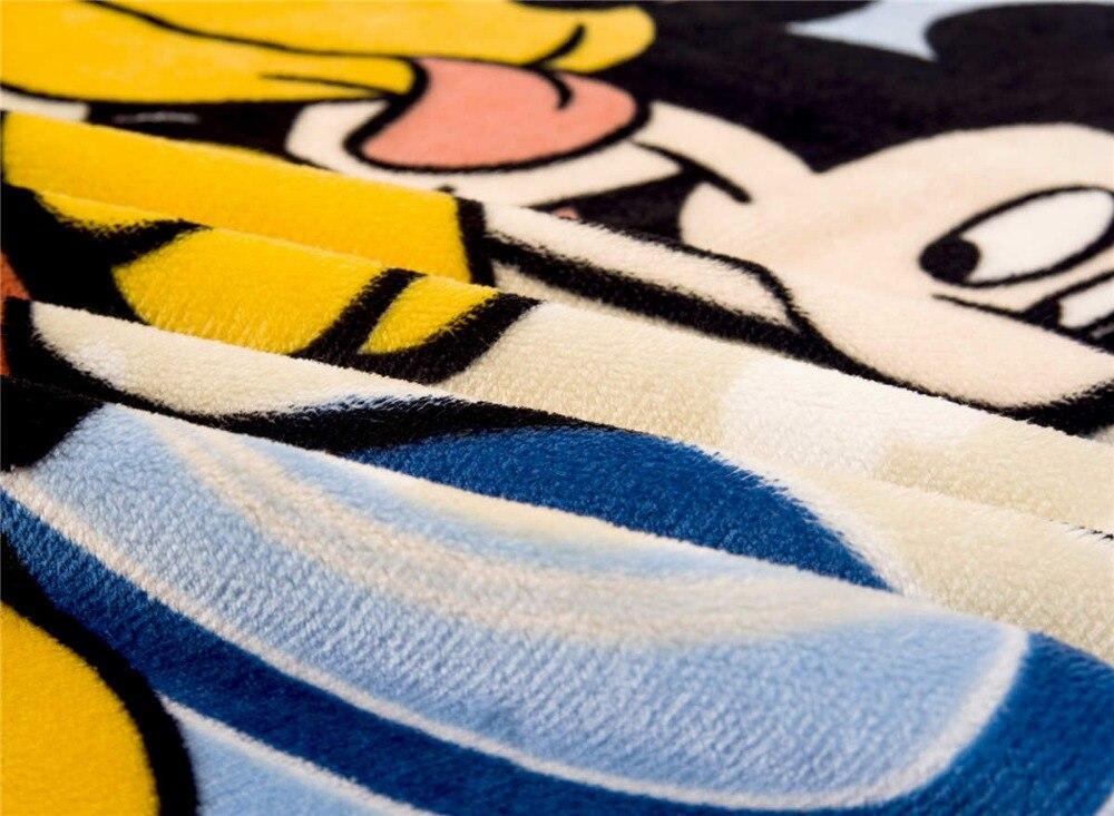Микки Мышь и goffy печатных фланель Одеяло Пледы Disney персонажа из мультфильма 100*140 см Детские кроватки теплые голубой цвет