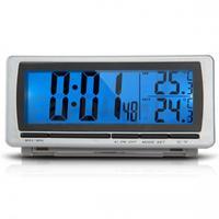 Digital LCD Display LED Blue Backlight Car F/C Thermometer   Clock   Alarm Sensor New Arrival