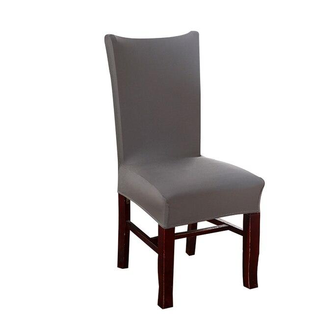 Schon MECEROCK Spandex Stretch Esszimmerstuhl Decken Elastischen Hussen Einfarbig  Restaurant Sitzbezug Für Hochzeit Hotel Bankett