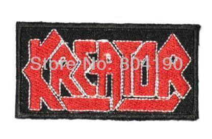 Parche de Metal pesado de diseño personalizado disponible con el logotipo de la banda musical de KREATOR bordado de hierro nuevo y coser-in Parches from Hogar y Mascotas    1
