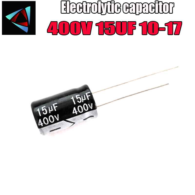 6PCS Higt Quality 400V 15UF 10-17mm 15UF 400V 10*17 Electrolytic Capacitor
