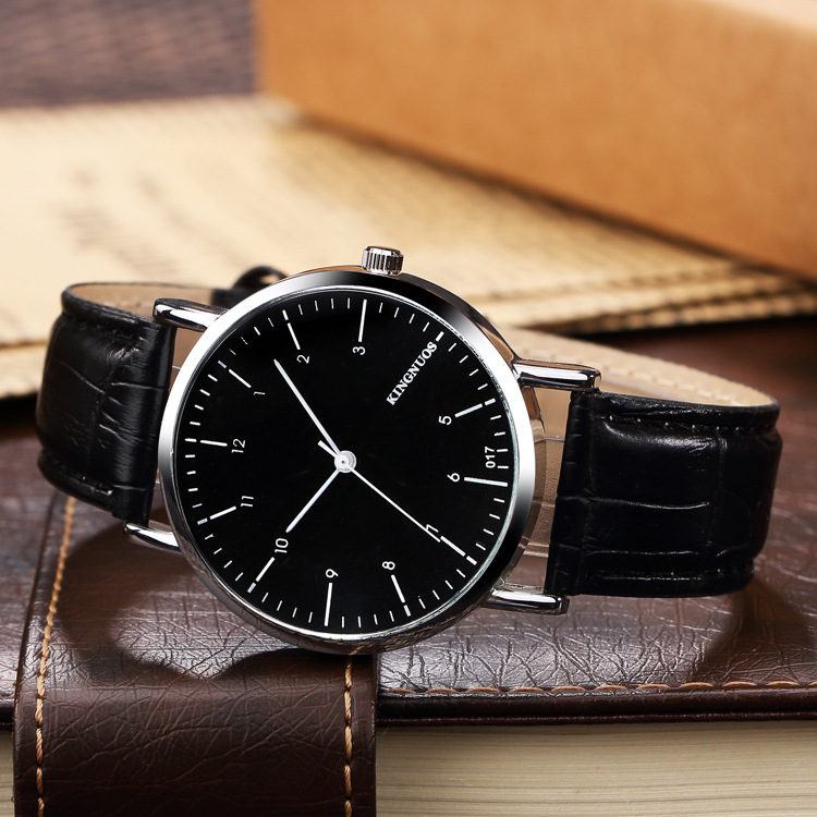 KINGNUOS 2018 Top Brand Quartz Watch Men Fashion Casual Analog Black Leather Wrist Watches Male Clock Hodinky Relogio Masculino kingnuos new quartz watch men watches top luxury brand male clock stainless steel wrist watch for men hodinky relogio masculino