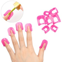 Makartt 26pcs/pack Creative Spill-Resistant Manicure Finger Cover Nail Polish Shield Protector Nail Polish Molds F0400