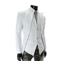 עיצוב אופנה סתיו האביב תלבש גברים טרייל אסימטרית סגנון מלא שרוול טרייל Jacket פופולרי זכר רשמיות בסגנון עסקים