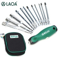 LAOA LA615012 12 in 1 T handle Socket Multifunction Screwdriver Set with Slotted Torx Phillips Bits