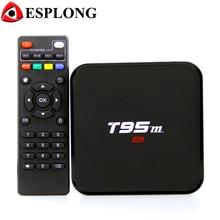 Smart T95M ТВ коробка Android 6.0 Amlogic S905X 2 ГБ 8 ГБ 4 ядра media player Предварительно установлено 4 К wi-Fi Bluetooth Декодер каналов кабельного телевидения