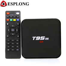 S905X T95M inteligente Cuadro de TV Android 6.0 Amlogic 2 GB 8 GB Quad Core Media Player preinstalado 4 k WiFi Bluetooth Set Top caja