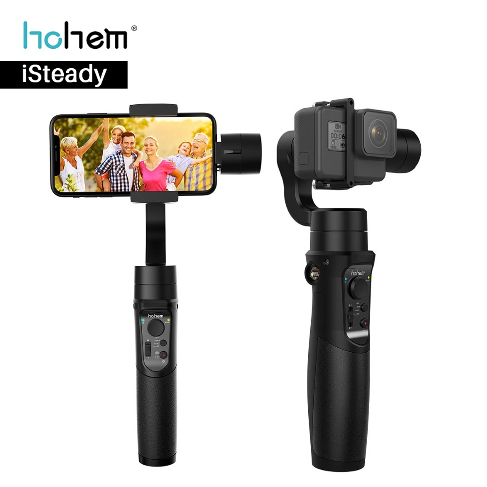 Hohem iSteady Pro 3 Axis Gopro Gimabal for Yi Cam Gopro Hero 6 5 Sony RX0 SJCAM Stabilizer for Phone Gimbal for iPhone Samsung funsnap capture 3 axis handheld phone gimbal stabilizer for iphone x 8 7 plus samsung s8 gopro hero 6 5 yi sjam eken h9