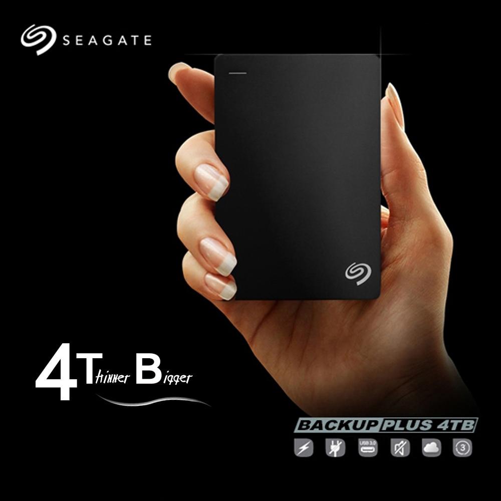 """Seagate External hdd 4 ТБ Backup Plus Slim USB 3.0 USB 2.0 2.5 """"Портативный внешний жесткий диск для рабочего ноутбука stdr4000300"""