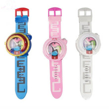 [CUTER]  Japanese  Anime Yokai Watch DX Yo-Kai Wrist  Projection Watch Kids Xmas Toy Cosplay  Model  With Voice and Light  Q0001