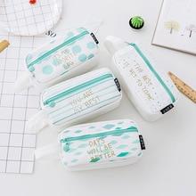 HOT Big Pencil case for Girls Boys kids kawaii School pencil case pencil box Bag Canvas School Supplies 66607 все цены