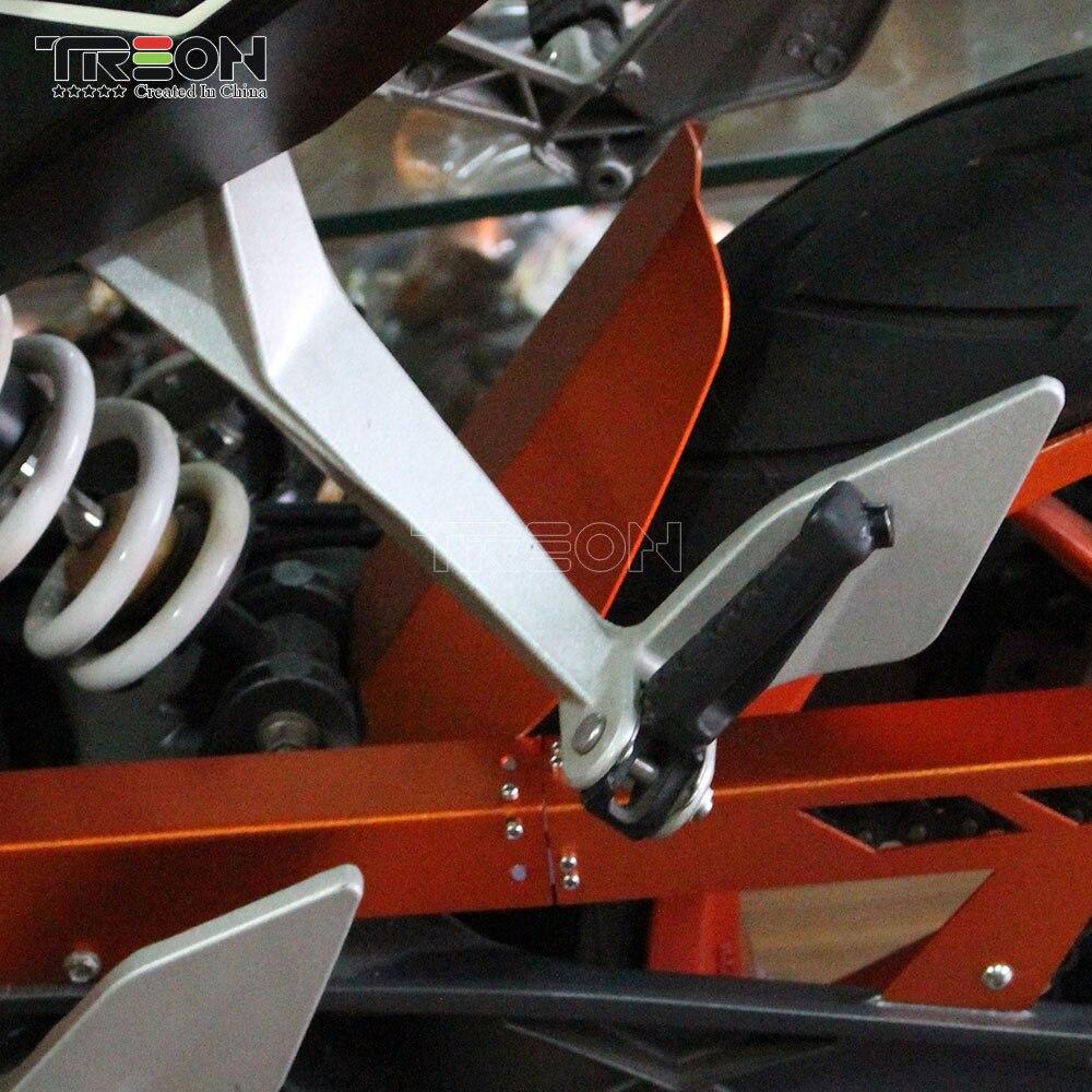 Accessoires de moto Orange pour KTM DUKE390 Extension d'aile arrière moto couverture de roue arrière pour KTM DUKE 390 DUKE250 200 125