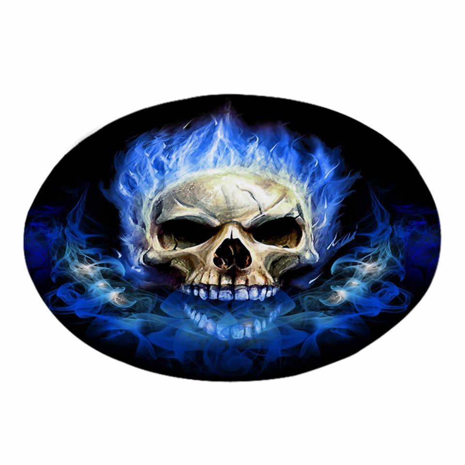 beddingoutlet flame skull round