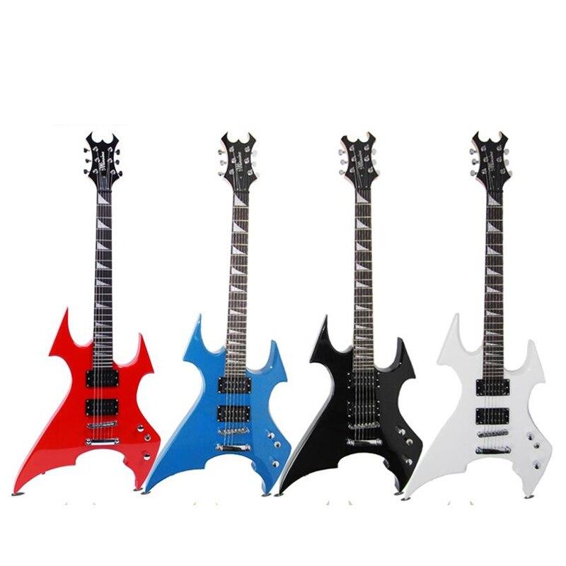 Новая качественная электрогитара специальной формы, персональная гитара, может быть оснащена динамиком, набор эффектов, 4 цвета, D006