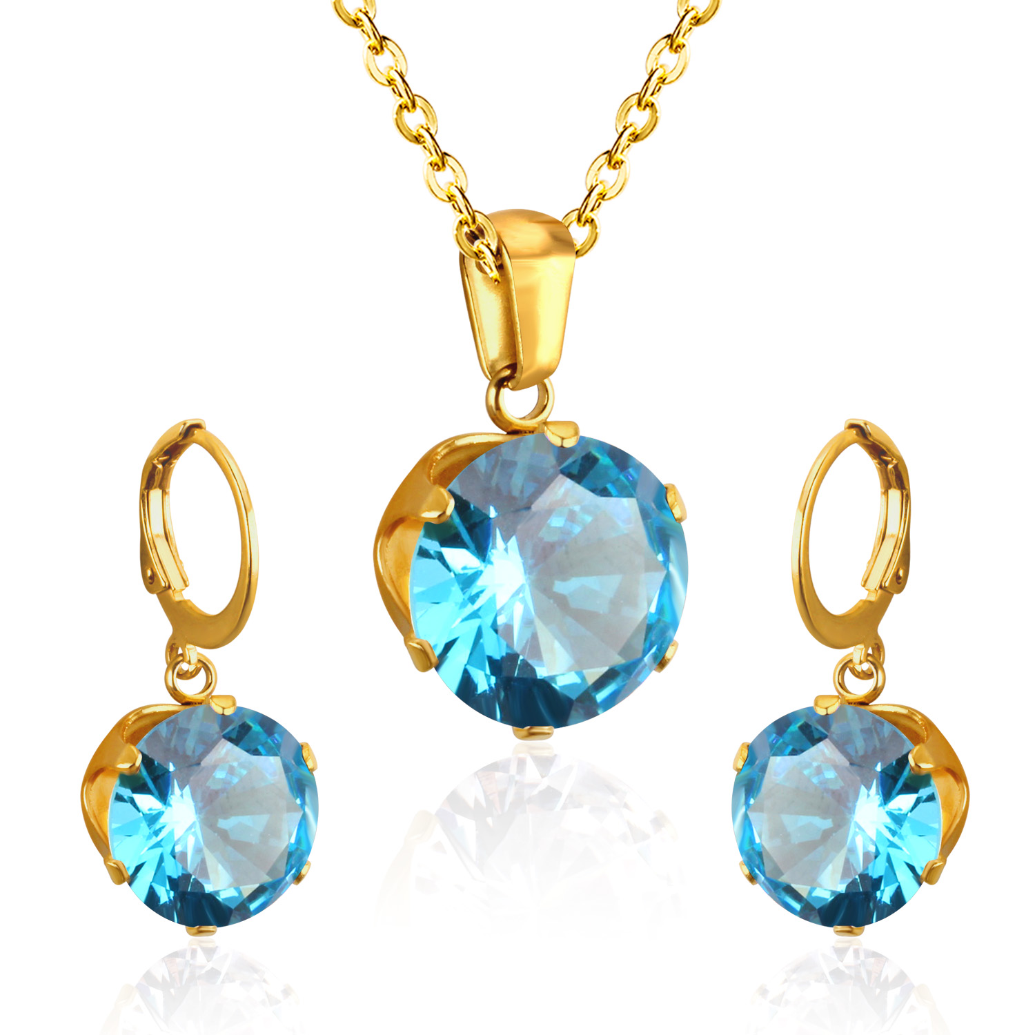 LUXUKISSKIDS Luxury Gold Color Bridal Jewelry Sets More for Women Wedding with High Quality AAA Zircon