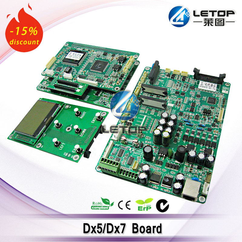 цены including dx5/dx7 main board and head board and key board single head dx5 printhead board for LETOP/TORIM/Lecai printer