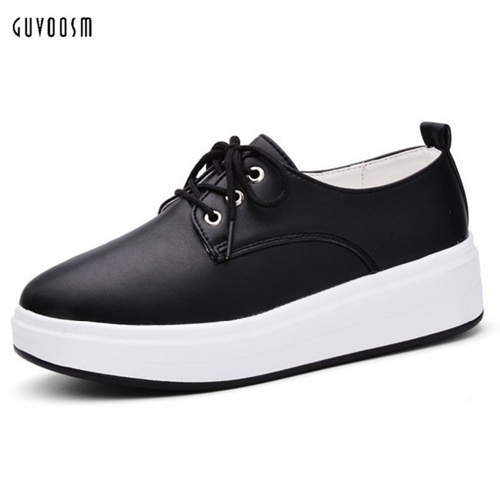 Guvoosm Genuine Leather Flats Black White Soft Casual Cross Tied Tendencies Sandals Footbed 2 Strap Hitam 40 Female Loafers Comfortable Round Toe Shoes Woman Big Size 31 44 In Womens From