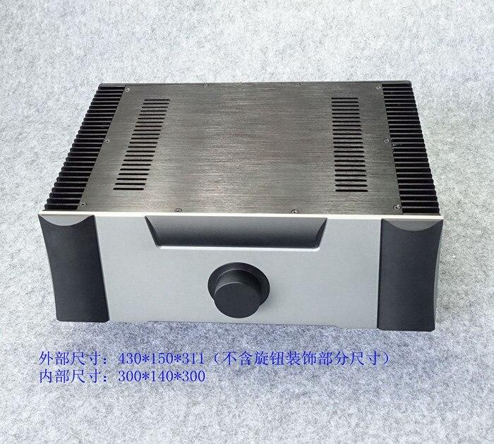 цена на WF4315E Full Aluminum Enclosure Class A Amplifier Chassis Both Sides Radiator case preamp Box Audio Amp Cabinet 430*150*311mm