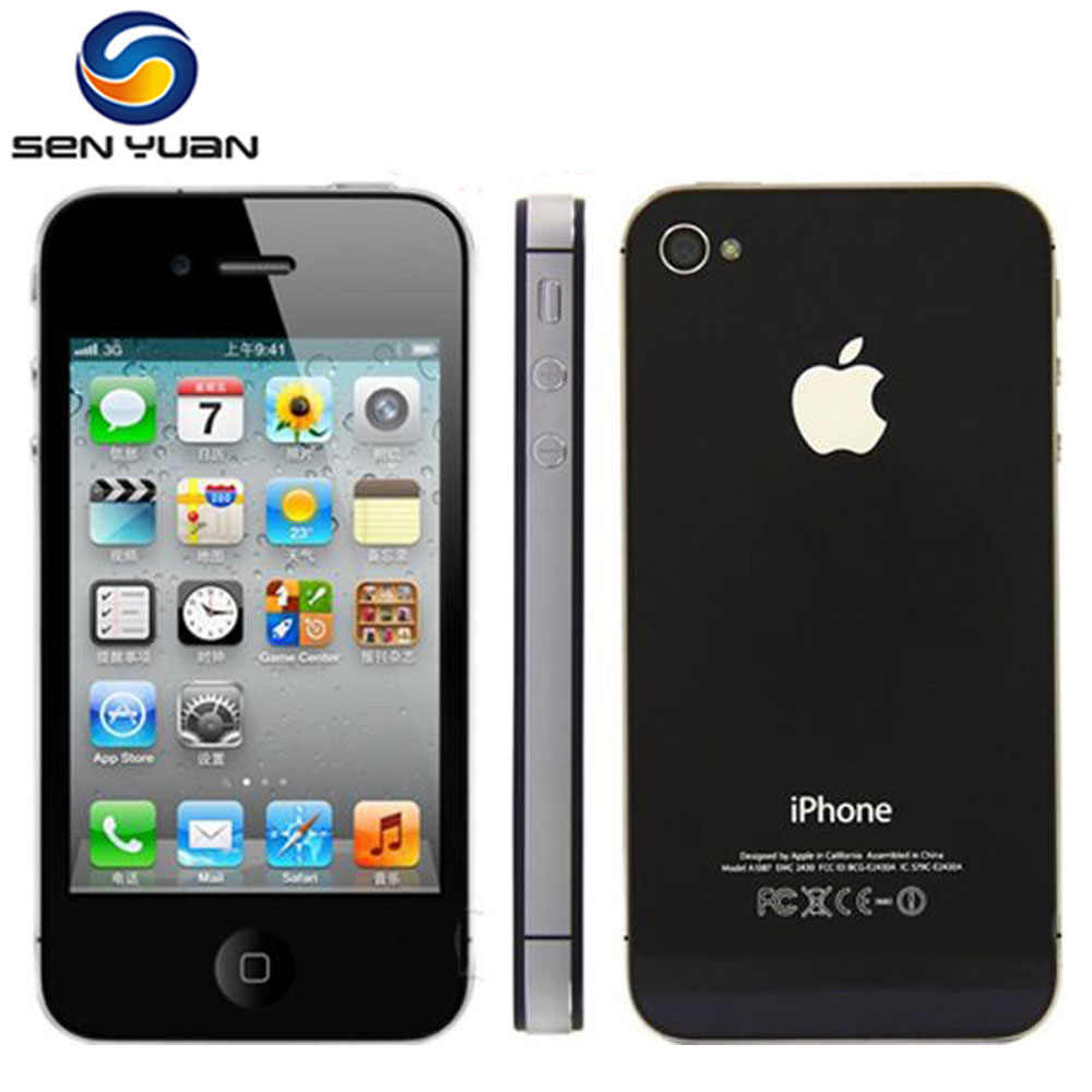 "Original Apple Iphone 4S desbloqueado de fábrica 8GB 16gb 32gb 64gb ROM 3,5 ""8MP Dual Core 3G GSM WCDMA WIFI GPS IOS teléfonos móviles"