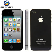 Original Apple Iphone 4S Factory Unlocked 8GB 16gb 32gb 64gb ROM 3.5'' 8MP Dual Core 3G GSM WCDMA WIFI GPS IOS Used mobile phone(China)