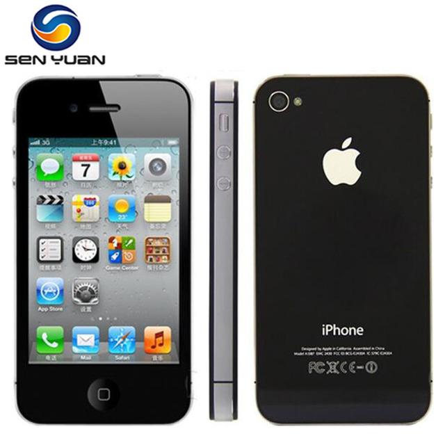 "Original Apple Iphone 4S Factory Unlocked 8GB 16gb 32gb 64gb ROM 3.5"" 8MP Dual Core 3G GSM WCDMA WIFI GPS IOS Used mobile phone"