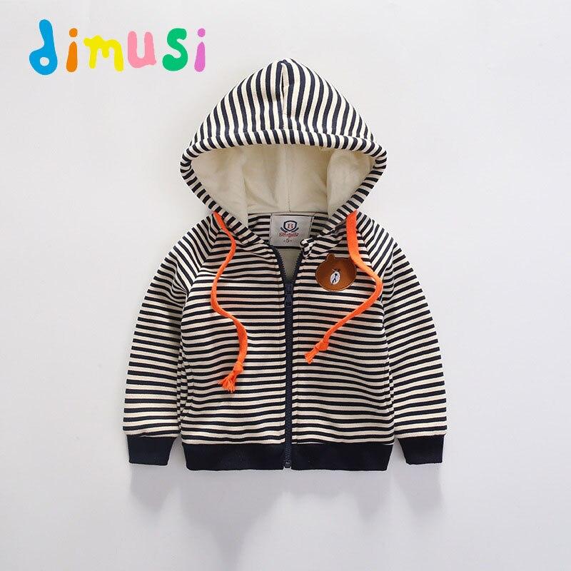 9dbefe511 DIMUSI New Autumn Kids Hoodie Jacket Kids Outwear Fashioh Stripe Children  Windbreak Coat Boy's Jacket Clothes For Children FC007