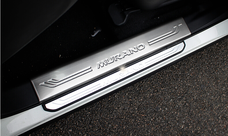 auto interior door sill plate scuff plate for nissan murano 2015 4pcs lot stainless steel free. Black Bedroom Furniture Sets. Home Design Ideas