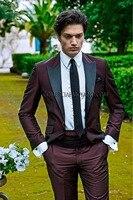 Последние конструкции пальто брюки бордовые итальянские Свадебные Для мужчин Костюмы Slim Fit пляж Блейзер пользовательский 2 шт. смокинг TERNO к